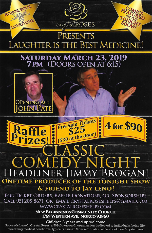 comedy show for Crystal Roses